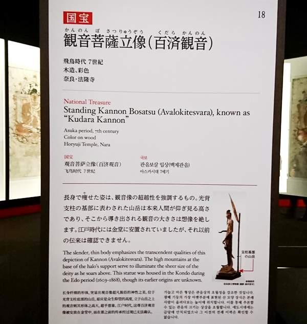法隆寺金堂壁画と百済観音 東京国立博物館