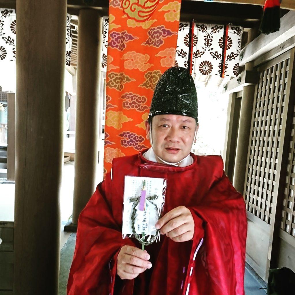 大宮 茅の輪飾り 茅の輪くぐり 茅の輪飾り 武蔵一宮氷川神社